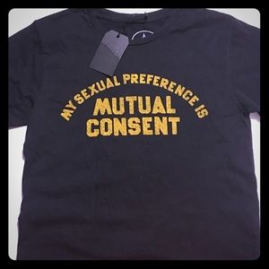 "NWT Local Authority ""mutual consent"" crop T-shirt"